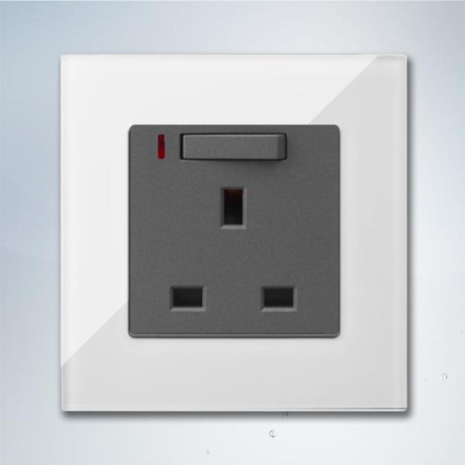 13A UK Standard Wall Socket with Indicate and light switch