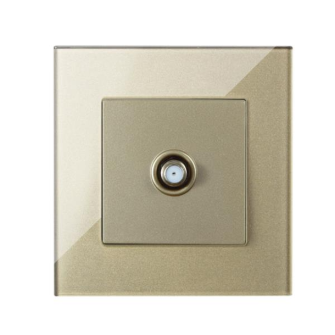 Glass Panel Satellite Outlet