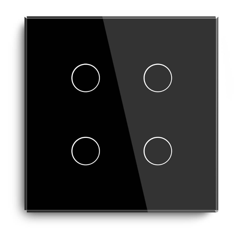 86mm panel ass Panel 4 Gang 1 Way Wifi Light Switch