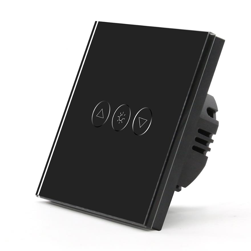 Black Wireless wifi wall light switch dimmer