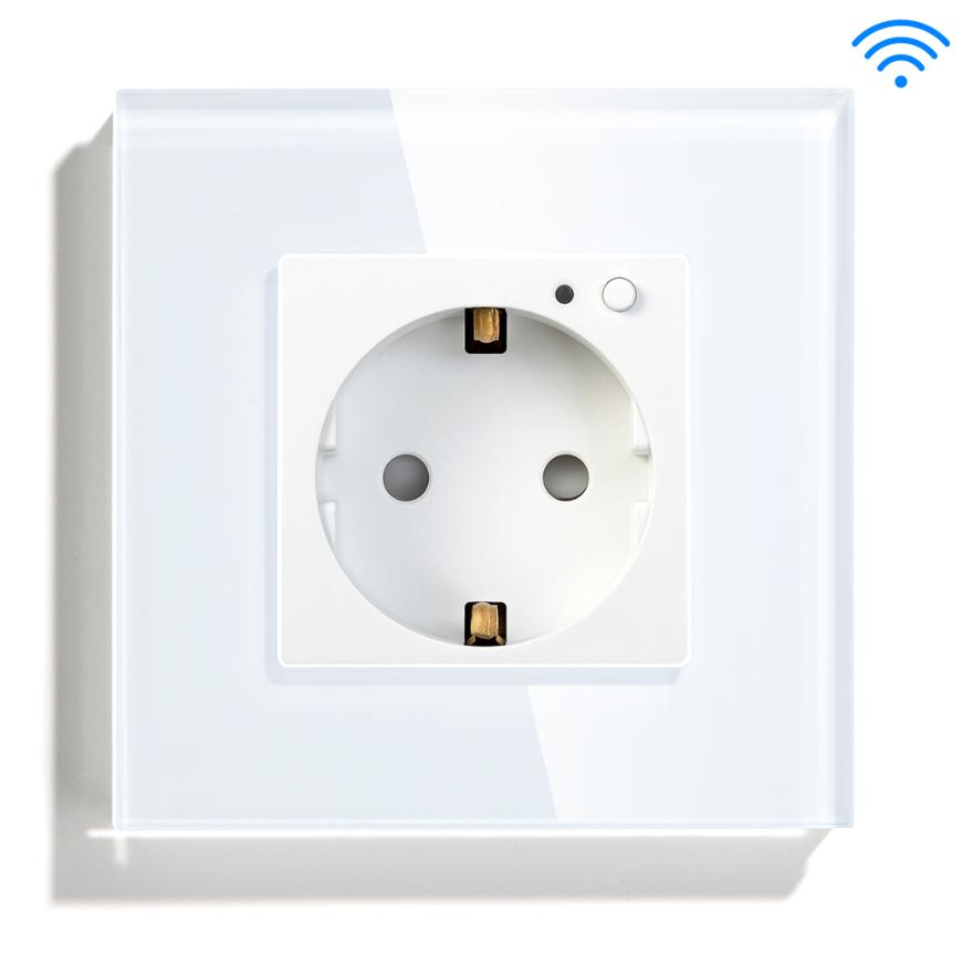 EU Standard White Smart Wifi Socket 16A Plug Steckdose Alexa Google Assistance