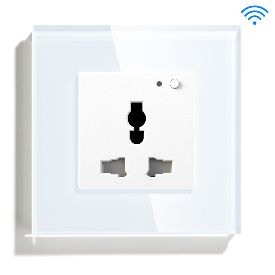 White Color Universal Type Smart Wifi Controlled Socket