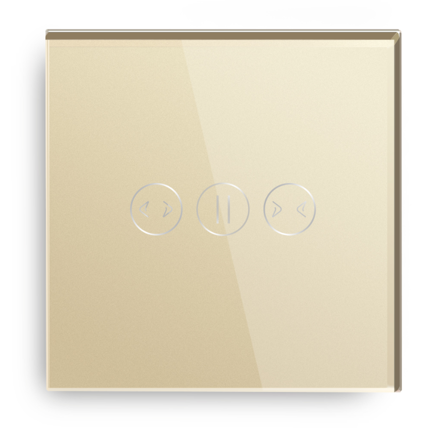 Gold Color Tempered Glass Panel Wifi Smart Universal Curtain Switch