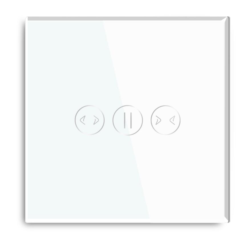 White Color Glass Panel Smart Google Wifi Control Tuya App Alexa Curtain Switch