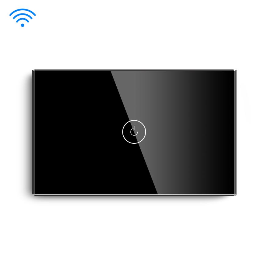 Black Color Smart Home Tuya Wifi Control App American US Standard Wifi Switch