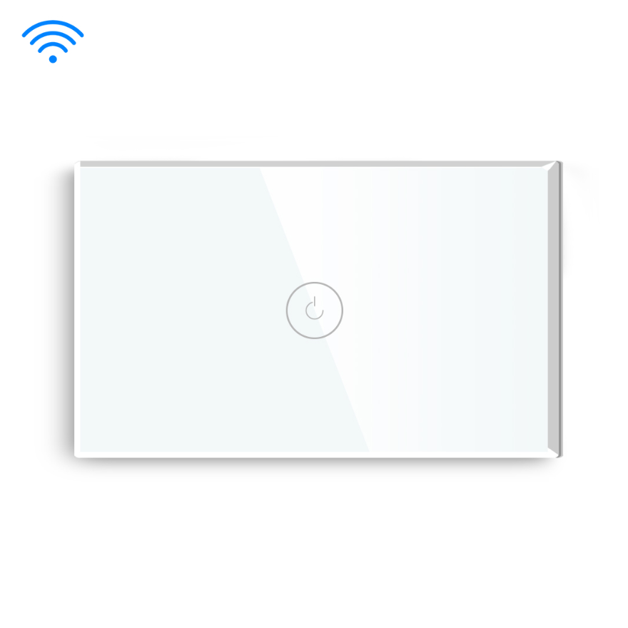 White Color 1 Gang 1 Way US type Wifi Switch With Neutral Line