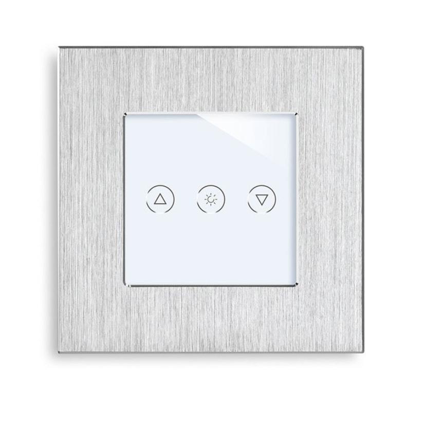 Black/Silver/Gold Aluminum Panel Wifi Smart Light Dimmer Switch